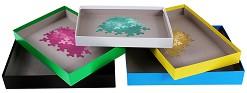 Цветни кутии за сортиране на пъзелни части - Комплект от 6 броя -