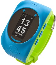 Детски GPS и GSM смарт часовник - MyKi Watch Blue - Работещ със SIM карти на всички български мобилни оператори -