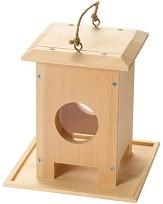 Дървена хранилка за птици -