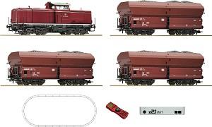 Товарен влак с дизелов локомотив BR 212 - DB - Дигитален стартов комплект с релси и дистанционно управление -