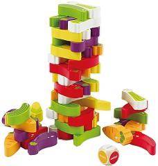 Дженга - Зеленчуци - Игра с дървени елементи за подреждане -