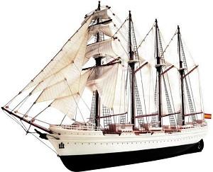 Шхуна - J. S. Elcano - Сглобяем модел на кораб от дърво и пластмаса -