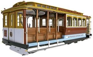 Трамвай от Сан Франциско - Сглобяем модел от дърво -