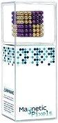 Магнитен конструктор - Magnetic Pixels - Комплект от 216 сферички в два цвята -