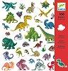Комплект стикери за декорация - Динозаври -