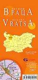 Враца - регионална административна сгъваема карта - М 1:260 000 -