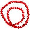 Мъниста за декориране - червени - Размери 1 x 0.7 cm -