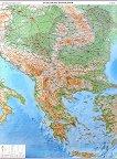 Физикогеографска карта на Балкански Полуостров - M 1:1 200 000 - карта