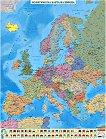 Политическа карта на Европа - M 1:4 000 000 - карта