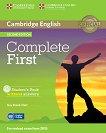 Complete First - Ниво B2: Учебник + CD : Учебна система по английски език - Second Edition - Guy Brook-Hart -