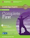 Complete First - Ниво B2: Учебна тетрадка + CD : Учебна система по английски език - Second Edition - Barbara Thomas, Amanda Thomas -