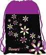 Детски сак с връзки - Цветя -