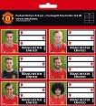 Етикети за тетрадки - ФК Манчестър Юнайтед - Комплект от 18 броя -