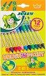 Двувърхи флумастери - Brush and Paint - Комплект от 12 цвята -
