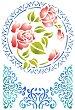 Шаблон - Рози и орнаменти - Размери 21 x 29.7 cm -