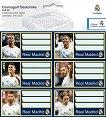 Етикети за тетрадки - ФК Реал Мадрид -