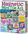 """Направи сам и нарисувай - Керамични магнити - Творчески комплект от серията """"Girl Craft"""" -"""