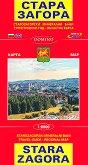 Карта на Стара Загора : Map of Stara Zagora - М 1:8000 -