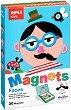 Забавни личица - Детски комплект с 30 магнита -