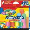Цветни тебешири - Jumbo - Комплект от 6 или 15 броя