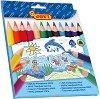Тристенни цветни моливи - Maxi