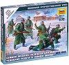 """Германски войници в зимни униформи - Комплект от 5 сглобяеми фигури от серията """"Великата отечествена война"""" -"""