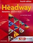 New Headway - Elementary (A1 - A2): Учебник по английски език + iTutor DVD-ROM : Fourth Edition - John Soars, Liz Soars -