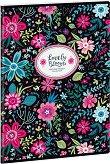 Ученическа тетрадка - Evening Blooms : Формат А4 с широки редове - 40 листа - тетрадка