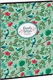 Ученическа тетрадка - Chirping Garden : Формат А4 с широки редове - 40 листа -