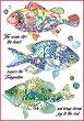 Декупажна хартия - Фантастични риби - Формат А4 -