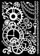 Шаблон - Механизъм - Размери 20 х 25 сm -