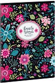 Ученическа тетрадка - Evening Blooms : Формат А5 с широки редове - 40 листа - тетрадка