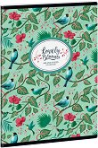 Ученическа тетрадка - Chirping Garden : Формат А5 с широки редове - 40 листа - тетрадка
