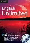 English Unlimited - Upper-Intermediate (B2): Комплект по английски език Combo B - част 2 + 2 DVD-ROM - Alex Tilbury, Leslie Anne Hendra, David Rea, Theresa Clementson, Rob Metcalf, Chris Cavey, Alison Greenwood -