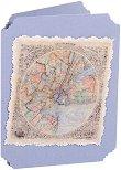 Поздравителна картичка - Карта на света -