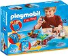 """Преносим комплект - Пиратско приключение - Детски конструктор от серията """"Playmobil: Play Map"""" -"""