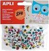 Цветни мърдащи се очички - Комплект от 100 броя -