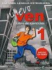 Nuevo Ven - ниво 1 (A1 - A2): Учебна тетрадка по испански език за 9. клас+ CD 1 edicion - учебник