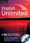 English Unlimited - Upper-Intermediate (B2): Комплект по английски език Combo A - част 1 + 2 DVD-ROM - Alex Tilbury, Leslie Anne Hendra, David Rea, Theresa Clementson, Rob Metcalf, Chris Cavey, Alison Greenwood - учебник