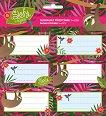 Етикети за тетрадки - Slofy - Комплект от 18 броя -