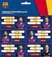 Етикети за тетрадки - ФК Барселона - Комплект от 18 броя - тетрадка
