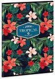 Ученическа тетрадка - Tropical Wildblume Формат А4 с широки редове - тетрадка