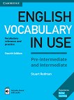 English Vocabulary in Use: Pre-intermediate and Intermediate Book with Answers and Enhanced eBook : Fourth Edition - Stuart Redman -