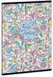 Ученическа тетрадка - Floral Jungle : Формат А5 с широки редове - 40 листа -