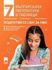 Българската литература в таблици. Подготви се сам за НВО за 7. клас - Весела Михайлова, Калина Михова, Любов Шишкова -