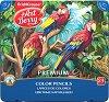 Цветни моливи - Premium - Комплект от 24 цвята в метална кутия