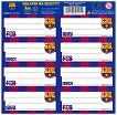 Етикети за тетрадка - Барселона - Комплект от 8 броя -