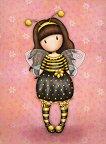 """Поздравителна картичка - Bee Loved - От серията """"Gorjuss"""" - картичка"""