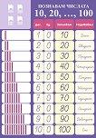 "Двустранно табло по математика ""Познавам числата до 20 и числата 10, 20, 30, ...,90, 100"" за 1. клас -"