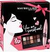 Подаръчен комплект - Maybelline You are Sensational - Спирала за обемни мигли и палитра сенки за очи -